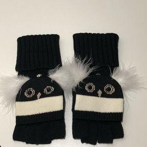 Kate Spade Penguin Convertible Fingerless Mittens